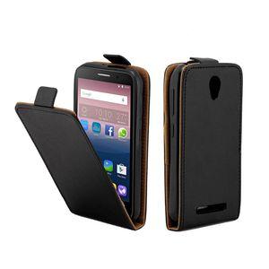 Estuche de cuero comercial para Coque ZTE Blade L110 Vertical cubierta de la ranura Ranura de la tarjeta Casos para ZTE Blade A110 Bolsas de teléfonos