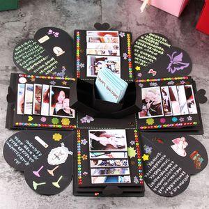 DIY сюрприз любовь взрыв коробка подарок взрыв для годовщины Записки DIY фотоальбом подарок на день рождения обернуть готовой коробке WX9-1076