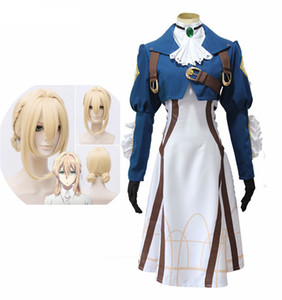 Violet Evergarden Costume Cosplay Anime giapponesi Cosplay Vestiti Parrucche Party Dress Costumi di Halloween per le donne