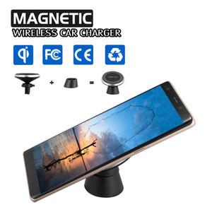 Manyetik Qi Kablosuz Araç Şarj Için iPhone X 8 8 Artı Hava Firar Dağı Şarj Tutucu Evrensel Qi-Etkin Akıllı Telefonlar Ile Uyumlu