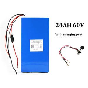 Freies verschiffen zu EU US 60 v 24ah li ionen elektroroller batterie für 1000 watt / 2000 watt / 3000 watt motor + 30 A BMS