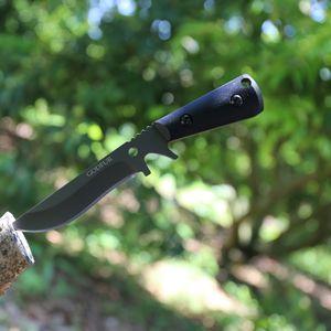 Nouvelle tactique AK couteau droit Tactique haute dureté couteau de survie sauvage auto-défense transporter outil camping en plein air couteaux de chasse bande K sheat