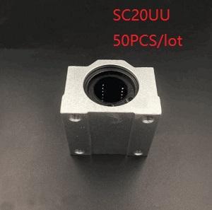 50pcs lot SC20UU SCS20UU 20mm linear case unit linear block bearing blocks for cnc router 3d printer parts