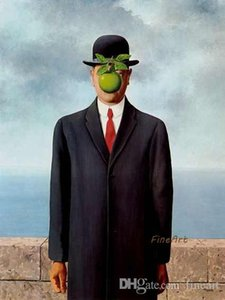 handmade painting surrealist rene magritte oil painting reproduction wall art oil pictures home decoration picture unique gifts Kungfu Art