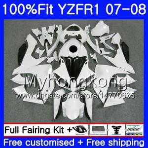 Corpo iniezione per YAMAHA YZF R 1 YZF 1000 YZFR1 07 08 227HM.17 YZF R1 07 08 Bianco lucido caldo YZF1000 YZF-1000 YZF-R1 2007 Kit carenatura 2008