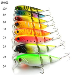 JM001 100PCS Jointed sections minnow fishing lure Lifelike hard bait Swimbait Isca Artificial Lures10.5cm 14g