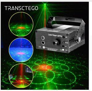 Mini DJ Laser luz do estágio Cor Completa 96 Padrões RGB projetor Dança Azul LEVOU Projetor Laser Efeito de Estágio de Iluminação para Disco Xmas partido