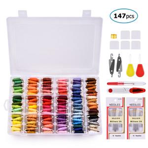 108 Renkler / set Çapraz Dikiş Nakış Konu Keçe İğneler Ve Aksesuarları Aracı El Yapımı Dikiş El Sanatları DIY örme İğneler