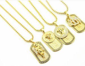 Yeni yıl yüksek kalite 20 k Altın Kaplama melek Kolye Seti burgu mektup güzellik Kolye Moda Takı Hediye ordu Mevcut hatıra necklacews