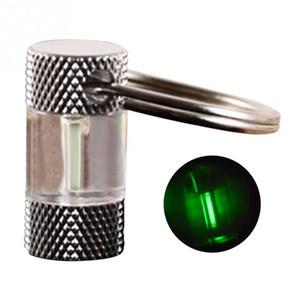 Fashion Keychain Automatic Light Titanium Tritium Portachiavi ANELLO Fluorescente Tubo Livice salvavita Tipo di emergenza Catena chiave