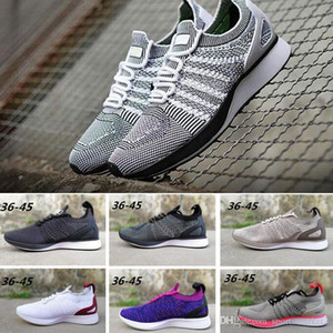 2018 Fly Racer Trainer Knit Oreo Black White Grey Sports Shoes Lunar Free Run casual shoes Men Women summer Sneakers 36-45