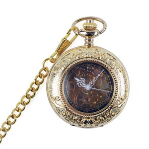 Flip vintage mechanical pocket watch men and women students hollow memory pocket watch fashion  hot sale