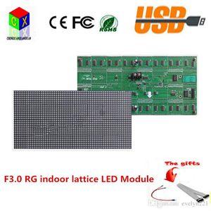 F3.0 RG Indoor Dot Matrix Module 64X32 punti con hub08, la dimensione è 256X128mm P4 led module, 1/16 scan