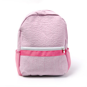 새로운 디자인 Seersucker Backpack kid 두 가지 색상의 학교 가방 Seersucker Navy, Pink kids 배낭 DOM109187