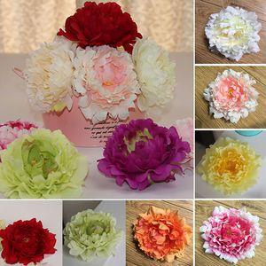 Fleurs artificielles soie pivoine fleur chefs mariage fournitures de fête simulation fausse fleur tête de noël décorations 15 cm WX-C03