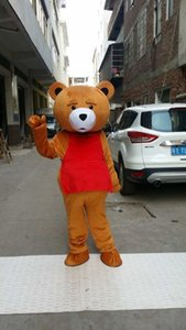 Teddy Bear Mascot Costume Adulte Mascot Costumes Promotion Teddy Bear Cartoon Costume D'imitation de Vêtements