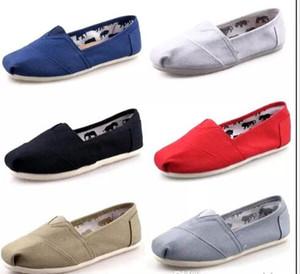 Hot marca novas mulheres homens sapatos de lona apartamentos mocassins casuais único tênis Ultra-leves Sapatos de condução unisex tom espadrille Sapato de caminhada