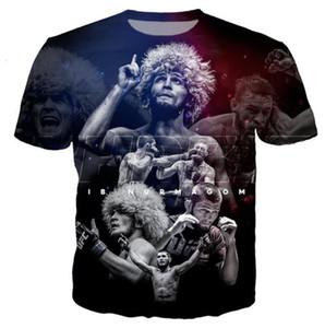 Nova chegada t shirt homens / mulheres estrela de boxe khabib nurmagomedov 3D impresso T-shirts casuais estilo Harajuku topos de verão RH01