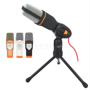 kebidumei 1pc Studio Microphone Podcast Son Podcast Studio Microfon pour PC portable Skype MSN Karaoke Microphone de bureau