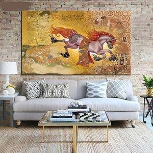 Густав KLIMT Ручная роспись HD Печать Home Decor Wall Art Классическая Абстрактная живопись масляными красками на холсте. Различные размеры / Рамка p354