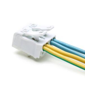 20 PCS Printemps Bloc Terminal Rapide Lampe Fil Connecteur Câble Électrique Pince Libre Vis Plug-Out Type Emplacement 923 P02 blanc