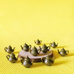 Xícara de chá de metal do vintage / chaleira / louça miniaturas / bonito / fada do jardim gnome / musgo terrário decoração / bonsai / estatueta / casa de boneca