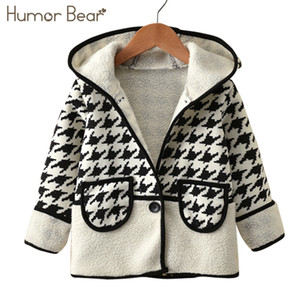 Юмор медведь 2017 springcAutumn дети куртки одежда дети куртки девушки с капюшоном с длинным рукавом куртки пальто