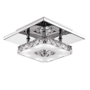 Modern LED CRISTAL CEILLING LIGHT LIGHT CHANDELIERS 12W LED Bombilla LIGHTING LIGHT CRISTAL LÁMPARA DE CRISTAL DE LA SUPERFICIE PARA EL CORRIDOR DEL PASEO