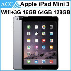 Refurbished Original Apple iPad Mini 3 WIFI + 3G Cellular 16GB 64GB 128GB 7.9 inch Retina Display IOS Dual Core A7 Chipset Tablet PC 1pcs