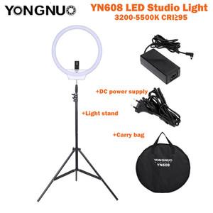 venta al por mayor YN608 LED Studio Video Light 3200K ~ 5500K Control remoto inalámbrico CRI95 Photo Lamp + Carry Bag + Power Adapter + Light Stand