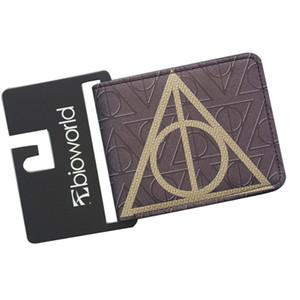 Magia Carteiras Harry Potter Bolsa AZKABAN Letra H Curto Bifold Magro Dinheiro Com Zíper Moedas 3 Cartões bolso Meninos Meninas Presente de Aniversário