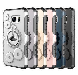 Para Samsung Galaxy S9 S9 Plus Cas Ejecución de la caja del brazalete de Super Cool 3D de la rueda de engranaje de diseño a prueba de golpes duros Gimnasio caso Kickstand teléfono móvil de la