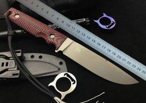 Yeni Yaban Domuzu Survival Düz Bıçak D2 Titanyum Bitirmek Bırak Noktası Bıçak G10 Kydex Ile Açık Sabit Bıçak Bıçaklar