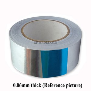 1 rotolo 80mm * 40M * 0,06 millimetri carta Sided Sticky foglio di alluminio appiccicoso per il trasferimento di calore, schermatura EMI, impermeabile, tenuta 2016