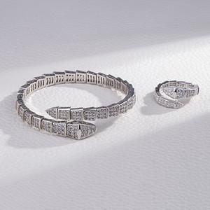 Monili del regalo del partito delle donne prezioso versione alta Bracciale Animal Viper SNAKE aperto diamante donne del braccialetto SAN VALENTINO