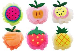 Nette Süßigkeiten Bunte Obstform Dusche Schwamm Bad Ball Bad Schwamm Zurück Schwamm Für Kinder und Mädchen