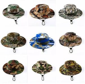 Tactique Bucket Beanie Chapeaux Airsoft Sniper Camouflage Népalais Cap Accessoires militaires de l'armée militaire américaine randonnée chapeaux 11 couleurs