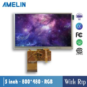 5 inch 800*480 resolution TFT LCD module display with RGB interface screen and RTP touch panel