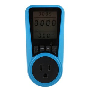 Medidor de Energia do agregado familiar LCD Backlight LCD de Grande Tela Digital Wattímetro Tomada De Tomada de Medição de Uso de Energia Monitor de Frete Grátis VB