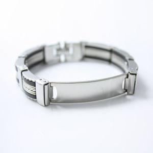 Sangsy 2018 moda titanium aço men pulseiras pulseiras de prata do vintage cor jóias pulseira do punk homens jóias presente