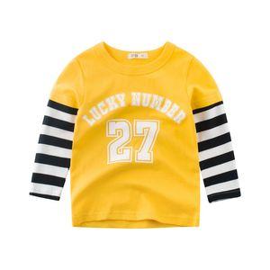 Autumn children's wear Korean version of boys long-sleeved T-shirt pure cotton children's clothing spring autumn baby shirt