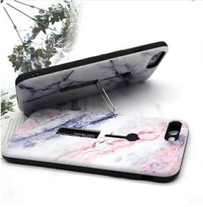Mermer Yumuşak Silikon Kılıf iphone 7 Artı Gizle Yüzük Standı Tutucu Telefon Kılıfları iPhone X 8 7 6 6 s Artı TPU Arka Kapak