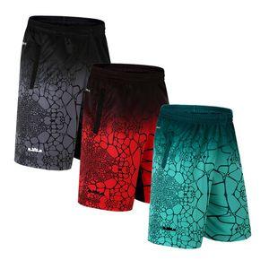 Basquete calções desportivos homens respirável seção fina de secagem rápida execução de fitness shorts curtos soltos