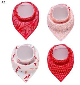 Bavoirs multicolores pour bébés avec bandana pour filles, garçons, cadeau de bébé en coton absorbant, 4 pièces / jeu