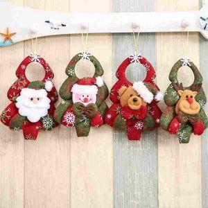 ثلج شجرة معلقة عيد الميلاد الحلي سانتا كلوز الأيائل المعلقات إسقاط جديد زينة عيد الميلاد قلادة المنزل