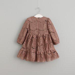 Vieeoease Flower Lace Girl Sleeve Princess Kids Spring Fashion Long Dress Cotton Clothing KU-075 Dress 2021 Qmwem