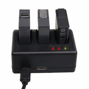 الذهاب برو بطل 5 بطارية ثلاثة شاحن بطارية الموانئ مع كابل USB للمحترفين العودة كاميرا Hero5 الرياضة إكسسوارات محول الطاقة