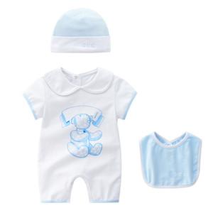 2018 neue Babyspielanzug neugeborenes Baby Jungen Mädchen Sommer Kleidung niedlichen Cartoon gedruckt Strampler Overall Klettern Kleidung