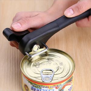 Lata de Aço Inoxidável Abridor de Lata Profissional Manual Side Cut Tin Abridor de Borda Suave Abridor de Garrafa Fácil Turn Knob Cozinha Gadget