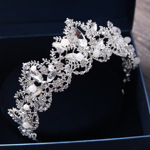 Sliver Kaplama Düğün Taç Gelin Gelinlik Çiçek Kız Kristal Taç Yapay elmas taç saç bandı Gelinlik Studio Tiara Sweet 16